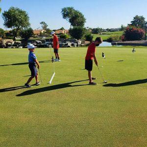 Junior Golf Putting at Ocotillo